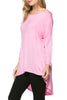 3/4 Dolman Sleeve Hi-Low Tunic - BodiLove | 30% Off First Order - 94