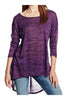 3/4 Dolman Sleeve Hi-Low Tunic - BodiLove | 30% Off First Order - 96