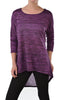 3/4 Dolman Sleeve Hi-Low Tunic - BodiLove | 30% Off First Order - 98