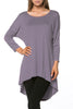 3/4 Dolman Sleeve Hi-Low Tunic - BodiLove | 30% Off First Order - 100