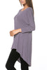 3/4 Dolman Sleeve Hi-Low Tunic - BodiLove | 30% Off First Order - 102