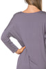 3/4 Dolman Sleeve Hi-Low Tunic - BodiLove | 30% Off First Order - 103