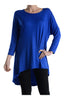 3/4 Dolman Sleeve Hi-Low Tunic - BodiLove | 30% Off First Order - 106