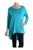 3/4 Dolman Sleeve Hi-Low Tunic - BodiLove | 30% Off First Order - 110
