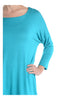3/4 Dolman Sleeve Hi-Low Tunic - BodiLove | 30% Off First Order - 111