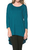 3/4 Dolman Sleeve Hi-Low Tunic - BodiLove | 30% Off First Order - 116
