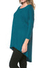 3/4 Dolman Sleeve Hi-Low Tunic - BodiLove | 30% Off First Order - 118