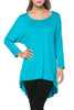 3/4 Dolman Sleeve Hi-Low Tunic - BodiLove | 30% Off First Order - 120