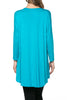 3/4 Dolman Sleeve Hi-Low Tunic - BodiLove | 30% Off First Order - 121