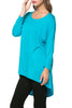 3/4 Dolman Sleeve Hi-Low Tunic - BodiLove | 30% Off First Order - 122