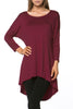 3/4 Dolman Sleeve Hi-Low Tunic - BodiLove | 30% Off First Order - 124