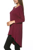 3/4 Dolman Sleeve Hi-Low Tunic - BodiLove | 30% Off First Order - 126