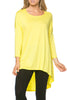 3/4 Dolman Sleeve Hi-Low Tunic - BodiLove | 30% Off First Order - 128