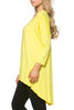 3/4 Dolman Sleeve Hi-Low Tunic - BodiLove | 30% Off First Order - 130