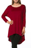 3/4 Dolman Sleeve Hi-Low Tunic - BodiLove | 30% Off First Order - 136