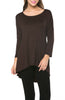 3/4 Dolman Sleeve Hi-Low Tunic - BodiLove | 30% Off First Order - 172