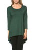 3/4 Dolman Sleeve Hi-Low Tunic - BodiLove | 30% Off First Order - 188