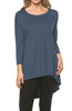 3/4 Dolman Sleeve Hi-Low Tunic - BodiLove | 30% Off First Order - 224