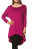3/4 Dolman Sleeve Hi-Low Tunic - BodiLove | 30% Off First Order - 232