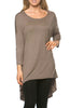 3/4 Dolman Sleeve Hi-Low Tunic - BodiLove | 30% Off First Order - 244