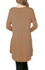 3/4 Dolman Sleeve Hi-Low Tunic - BodiLove | 30% Off First Order - 149