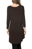 3/4 Dolman Sleeve Hi-Low Tunic - BodiLove | 30% Off First Order - 173