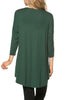 3/4 Dolman Sleeve Hi-Low Tunic - BodiLove | 30% Off First Order - 181
