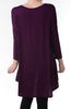 3/4 Dolman Sleeve Hi-Low Tunic - BodiLove | 30% Off First Order - 205