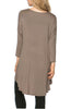 3/4 Dolman Sleeve Hi-Low Tunic - BodiLove | 30% Off First Order - 245