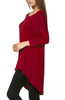 3/4 Dolman Sleeve Hi-Low Tunic - BodiLove | 30% Off First Order - 134