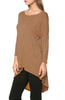 3/4 Dolman Sleeve Hi-Low Tunic - BodiLove | 30% Off First Order - 162