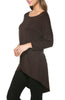 3/4 Dolman Sleeve Hi-Low Tunic - BodiLove | 30% Off First Order - 174