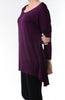 3/4 Dolman Sleeve Hi-Low Tunic - BodiLove | 30% Off First Order - 206