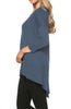 3/4 Dolman Sleeve Hi-Low Tunic - BodiLove | 30% Off First Order - 226