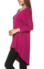 3/4 Dolman Sleeve Hi-Low Tunic - BodiLove | 30% Off First Order - 234