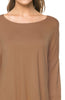 3/4 Dolman Sleeve Hi-Low Tunic - BodiLove | 30% Off First Order - 155