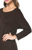 3/4 Dolman Sleeve Hi-Low Tunic - BodiLove | 30% Off First Order - 167