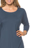 3/4 Dolman Sleeve Hi-Low Tunic - BodiLove | 30% Off First Order - 227
