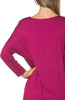 3/4 Dolman Sleeve Hi-Low Tunic - BodiLove | 30% Off First Order - 235