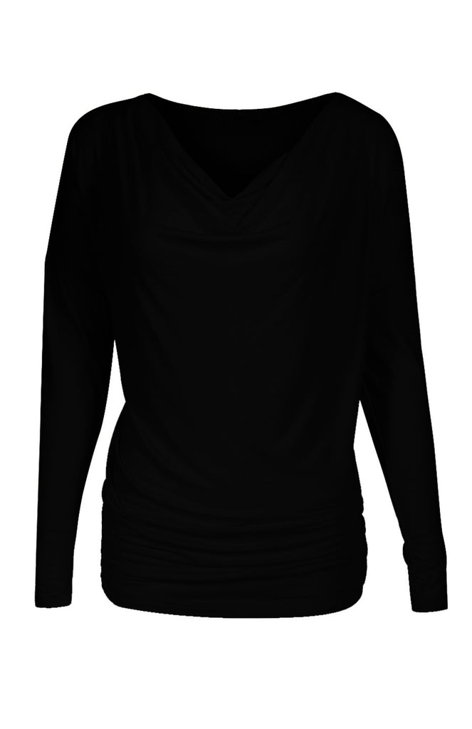 Long Dolman Sleeve Top W/ Cowl Neck - BodiLove | 30% Off First Order  - 1