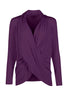 Long Sleeve Criss Cross Drape Front Top - BodiLove | 30% Off First Order - 28 | Dark Purple