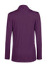 Long Sleeve Criss Cross Drape Front Top - BodiLove | 30% Off First Order - 29 | Dark Purple