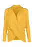 Long Sleeve Criss Cross Drape Front Top - BodiLove | 30% Off First Order - 37 | Mustard
