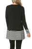 Long Dolman Sleeve Tunic W/ Striped Hem - BodiLove | 30% Off First Order  - 2