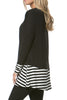 Long Dolman Sleeve Tunic W/ Striped Hem - BodiLove | 30% Off First Order  - 3
