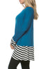 Long Dolman Sleeve Tunic W/ Striped Hem - BodiLove | 30% Off First Order  - 6