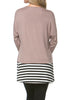 Long Dolman Sleeve Tunic W/ Striped Hem - BodiLove | 30% Off First Order  - 9