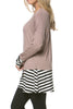 Long Dolman Sleeve Tunic W/ Striped Hem - BodiLove | 30% Off First Order  - 10