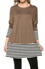 Long Dolman Sleeve Tunic W/ Striped Hem - BodiLove | 30% Off First Order  - 11