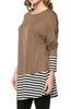Long Dolman Sleeve Tunic W/ Striped Hem - BodiLove | 30% Off First Order  - 13